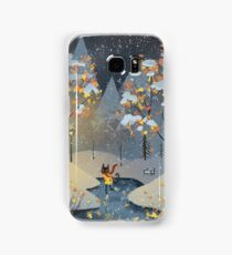 Ice Skating Cat Samsung Galaxy Case/Skin