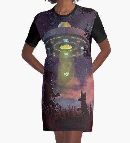 UFO Sighting Graphic T-Shirt Dress