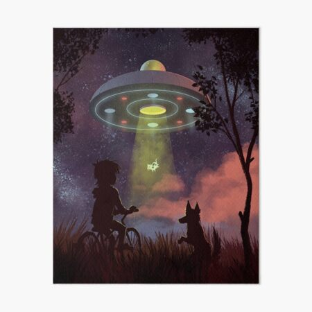 UFO Sighting Art Board Print
