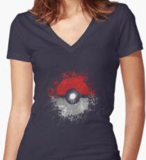 Poke'ball Women's Fitted V-Neck T-Shirt