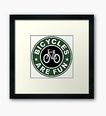BICYCLES ARE FUN PRINT Framed Print