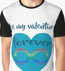 Be My Valentine Forever , Valentine's Day Gay Flag Graphic T-Shirt