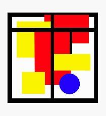 Piet Mondrian Tribute Photographic Print