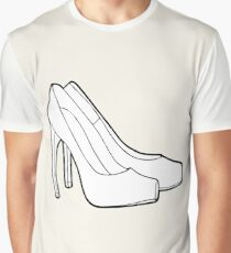 Black & white high-heeled shoes Graphic T-Shirt