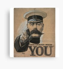 """Your Country Needs You"" British WWI Poster Canvas Print"