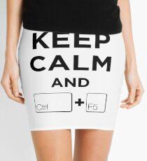 Keep Calm and Ctrl + F5 Mini Skirt