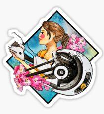Chell & GLaDOS Sticker