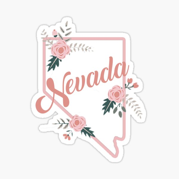 Nevada Floral Roses Sticker