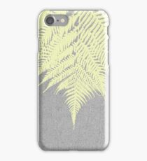 Concrete Fern Yellow iPhone Case/Skin