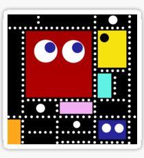 Pac Mondrian Sticker