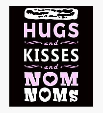 Hugs and Kisses Funny Bacon Nom Noms Photographic Print