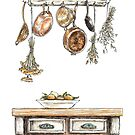 Country Kitchen Copper Pots by StrangePersimon