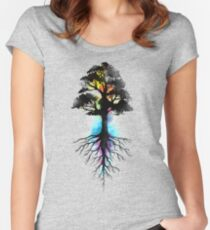 Natural Source  Women's Fitted Scoop T-Shirt