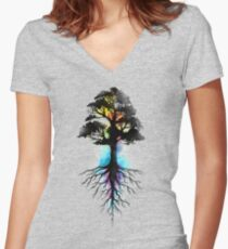 Natural Source  Women's Fitted V-Neck T-Shirt