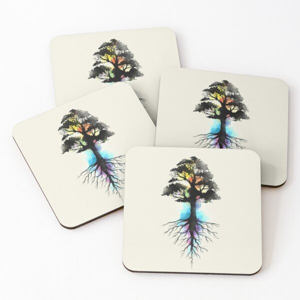 Natural Source  Coasters (Set of 4)