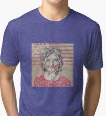 Hilary Clinton Portrait Collage Tri-blend T-Shirt