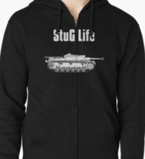 StuG Life - Military History Visualized (Vertical Version) Zipped Hoodie