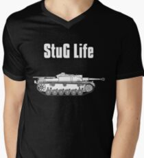 StuG Life - Military History Visualized (Vertical Version) Men's V-Neck T-Shirt