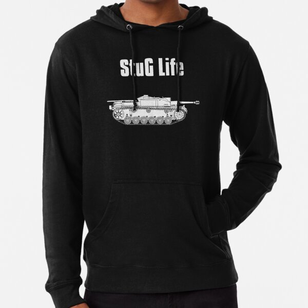 StuG Life - Military History Visualized (Vertical Version) Lightweight Hoodie