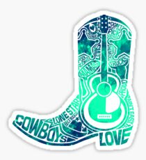Cowboy Boot Sticker