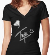 Troye Sivan Blue Neighbourhood / Troye Sivan Merch Women's Fitted V-Neck T-Shirt