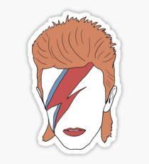 David Bowie Minimal Sticker
