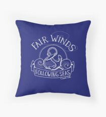 Fair Winds and Following Seas - Off White Throw Pillow