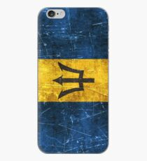 Vintage Aged and Scratched Barbados Flag iPhone Case