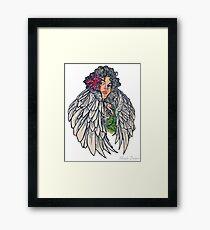 Neotraditional guardian angel Framed Print