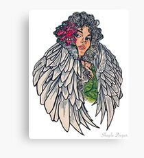 Neotraditional guardian angel Canvas Print