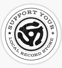 Support Your Local Record Store Sticker