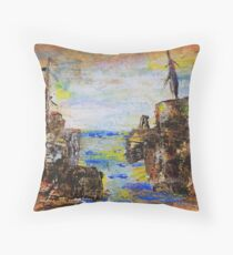 Rough Country Abstract Throw Pillow