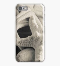 White Starfish Black and White iPhone Case/Skin