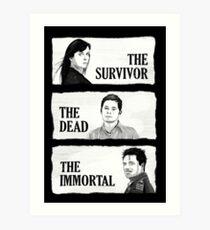 Torchwood - The Survivor, The Dead, The Immortal Art Print