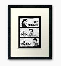 Torchwood - The Survivor, The Dead, The Immortal Framed Print