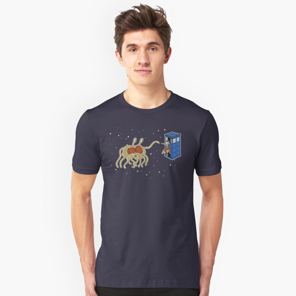 Wibbly Wobbly Noodley Woodley III Slim Fit T-Shirt