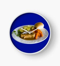 Blue Plate Special Clock
