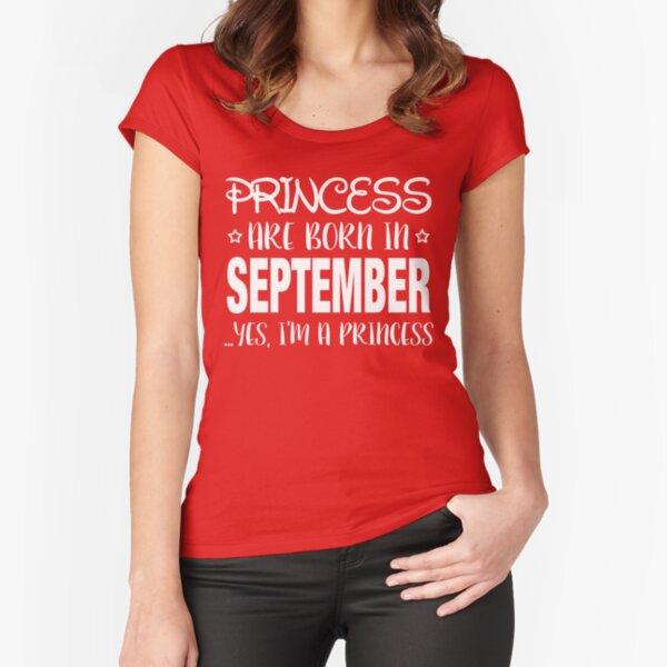 Uk Standard Women/'s T-Shirt Princess Are Born In September