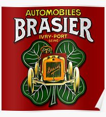 Vintage Automobiles Brasier poster by MotorMania  Poster
