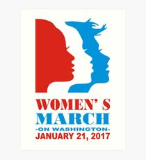 Womens March On Washington January 21.2017  Art Print