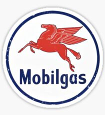 Mobilgas Vintage Logo Sticker