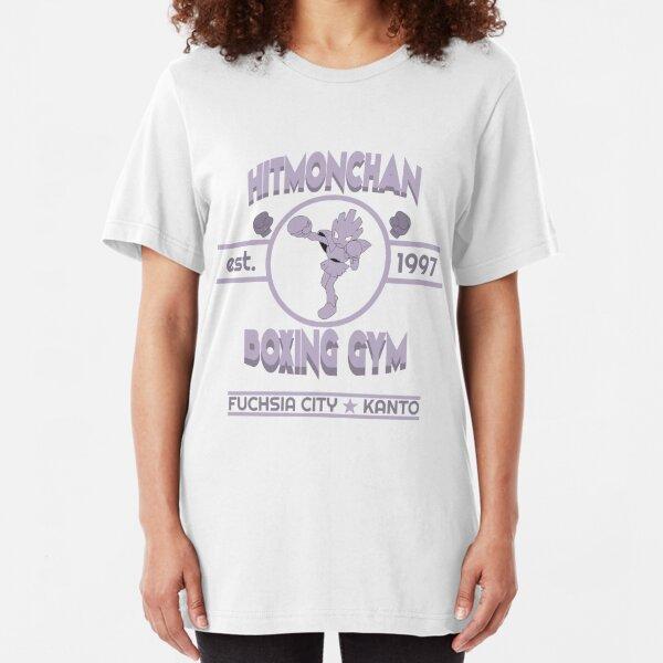 Hitmonchan Boxing Gym | Purple Slim Fit T-Shirt
