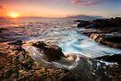 Falling Back into the Sea - Maui by Michael Treloar
