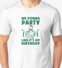 Party Like It's A Christmas Birthday Slim Fit T-Shirt