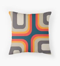 Mid Century Square Pattern Throw Pillow