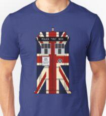 Union Jack Police Call Box. T-Shirt