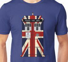 Union Jack Police Call Box. Unisex T-Shirt