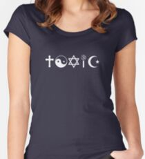 Religion Is Toxic Freethinker Women's Fitted Scoop T-Shirt
