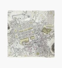 Plan of Edinburgh, Scotland - 1834 Scarf