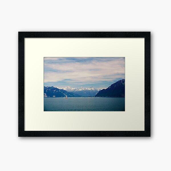 Sailing on Lake Geneva Framed Art Print